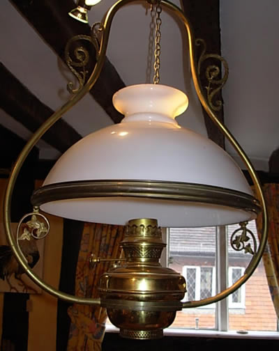Antique Brass Oil Lamp - Estate Property