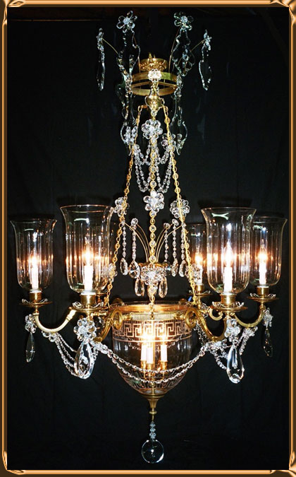 Neo Classical Chandelier Offered by Chantelle Chandeliers - $30,000 Pair